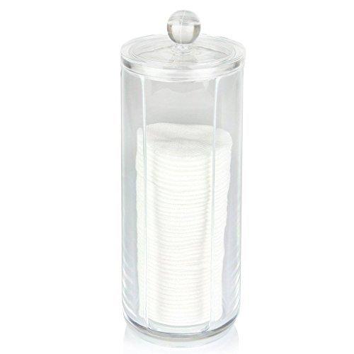 Oriskey Wattepadspender Wattepads Spender Kosmetik Make-up Pad Acryl Klar Behälter Halter Inhaber Box Aufbewahrung - Wattepad-spender