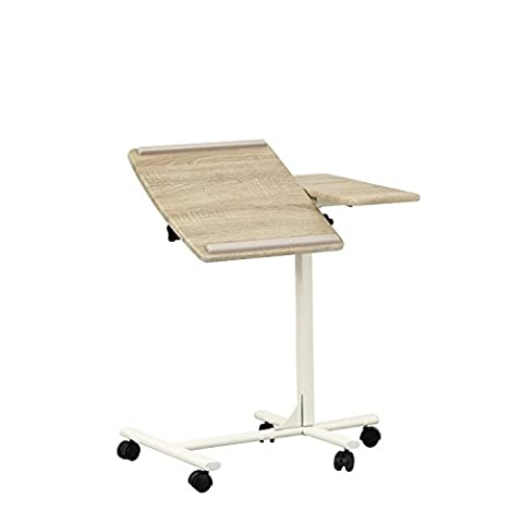 Adjustable Laptop Stand Desk Coavas Modern Notebook Computer Tray Table with Mouse Board beige
