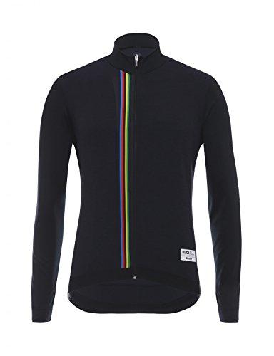 Santini UCI Rainbow Design Maillot à Manches Longues Homme, Noir, x-Larg