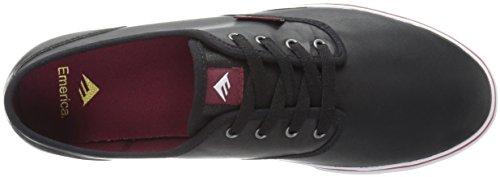 Emerica Wino Cruiser, Chaussures de Skateboard Homme Black (Black/White/Burgundy)