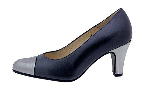 Scarpe donna comfort pelle Piesanto 4203 scarpe di sera comfort larghezza speciale Persia Negro