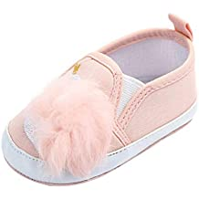 Sandalias de Vestir, ❤ Zolimx Recién Nacido Bebé Niñas Cisne Bola de Pelo Antideslizante