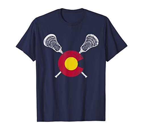 Colorado Flag Lacrosse Sports Team Gift Player T-Shirt -