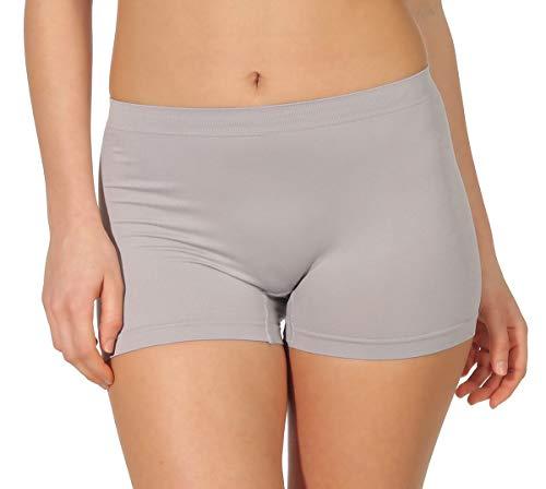 simaranda 6er Pack Damen Slips Seamless Unterwäsche Panty Boxershorts Unterhose Microfaser 20 (XL/XXL, Farbig) - 4