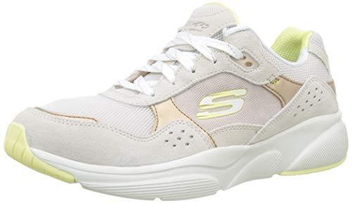 Skechers Damen Meridian-no Worries Sneaker, Beige (Taupe Yellow Tpyl), 41 EU