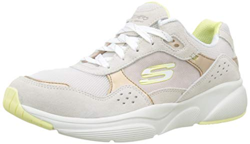 Skechers Meridian-no Worries, Zapatillas para Mujer, Beige Taupe Yellow Tpyl, 37 EU