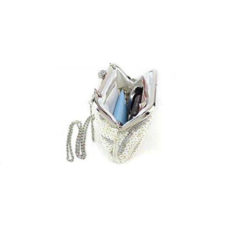 Damen Abendtasche Neue Art Und Weise Wulstige Damen Handtaschen Handy Kosmetiktasche White