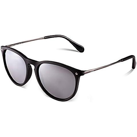 Gafas de Sol Polarizadas, Carfia UV400 Gafas de Sol Polarizadas Metal de Moda para Conducción Pesca Esquiar Golf Aire Libre para Mujer y Hombre