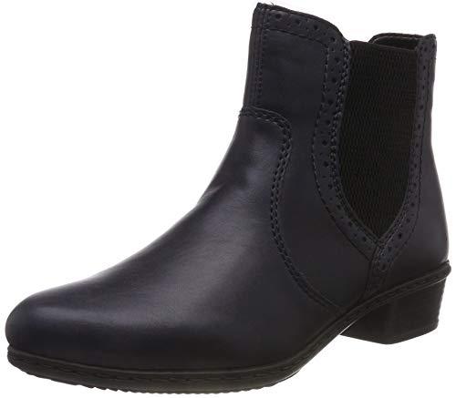 Rieker Damen Y0771 Chelsea Boots, Blau (Navy/Schwarz 15), 36 EU