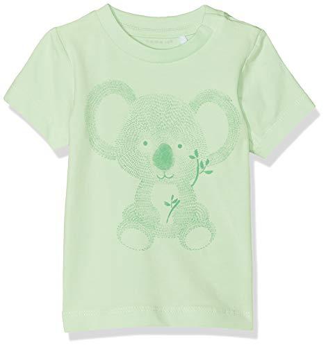 NAME IT Baby-Jungen Nbmhesom Ss Top T-Shirt, Grün (Spray), (Herstellergröße: 56) -