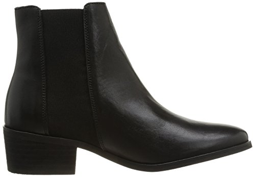 Pieces Becca New Leather Chelsea Boot, Boots femme Noir (Black)