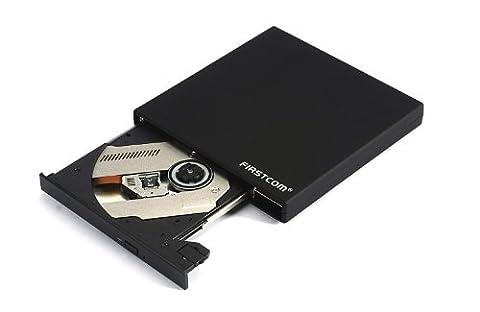 Firstcom Externes 3D Blu-ray ROM DVD Brenner Combo Laufwerk USB 2.0 BD/DVD/CD Slim für Computer/Notebook/Ultrabook Windows/Mac OS/Apple Macbook / Pro / Air /