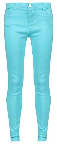 Jeans attillati (turchese, 6-7 anni)