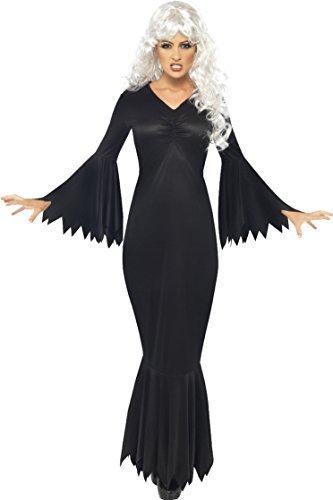 Damen Mitternachts Vamp Plus gratis Vampir Zähnen Halloween Kostüm Größe L 16 bis 18 (Xviiie Au Kostüm)