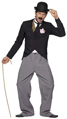 Kostüm Warden - 1920er Star Kostüm mit Jacke Hose Mock Weste und Schlips, Medium