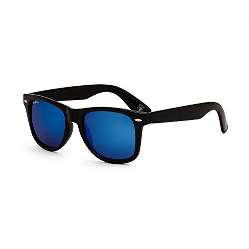 Royal Son UV Protected Wayfarer Sunglasses For Men And Women (RS002WF 53 Blue Mirrored Lens)