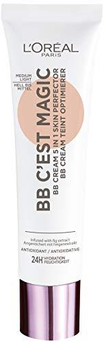 L\'Oréal Paris BB Blemish Balm Cream BB C\'EST MAGIQUE Hell bis Mittel, 3er Pack (3 x 30 ml)