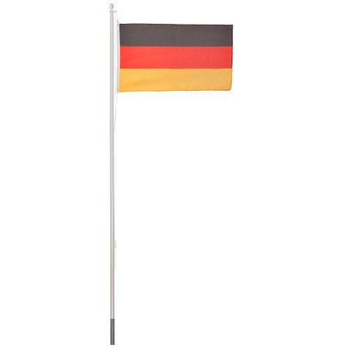 Ultranatura Fahnenmast 6.2 Meter, 150 x 90 cm, mit Deutschlandflagge