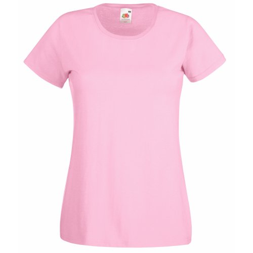 Fruit Of The Loom - Maglia Manica Corta - Donna Light Pink