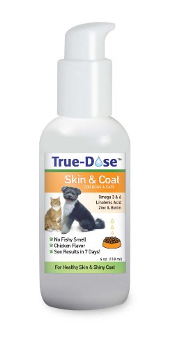 True-Dose Skin and Coat Supplement Chicken Flavor, 4-Ounce by True Dose 4 Oz Dosen