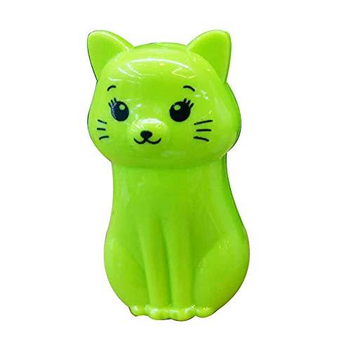 Xiton 2 Packungen Niedlich Cartoon Tier Katze Anspitzer für regelmäßige Bleistifte Kreiden (zufällige Farbe)