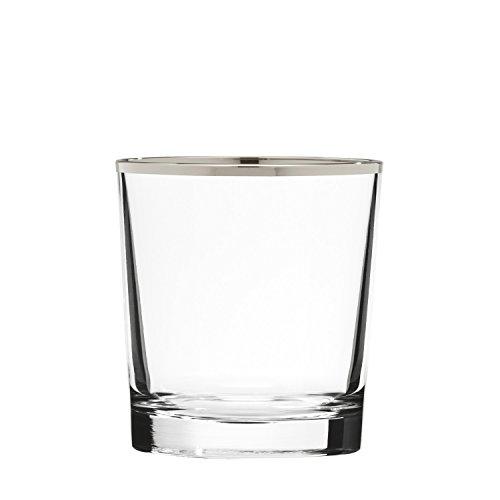 ARNSTADT KRISTALL Whiskyglas Pure Platin (9 cm) Kristallglas mundgeblasen · handgeschliffen · Handmade in Germany · inkl. echtem Platinrand