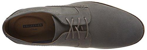 Clarks Raharto Plain, Derbys Homme Gris (Grey Leather)