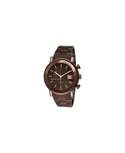 Gucci - Reloj de pulsera hombre, acero inoxidable, color marrón