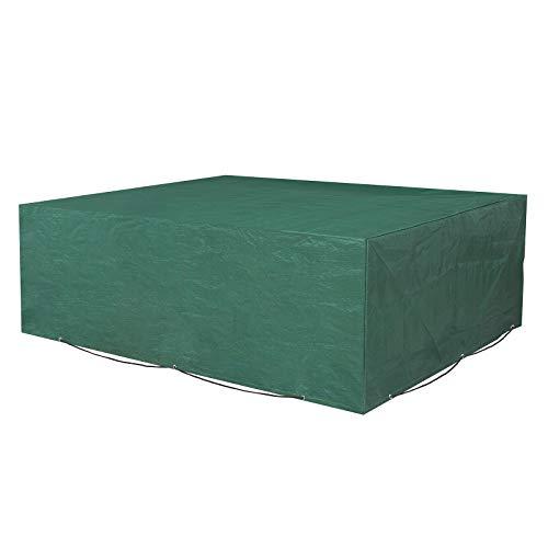 SONGMICS Schutzhülle für Gartenmöbel, 250 x 200 x 80 cm, Abdeckeplane für Tisch und Stühle, Outdoor, wasserdicht, rechteckig, Grün GFC92L - Outdoor Tisch Rechteckig