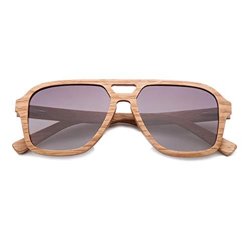 CWYPB Zebra Holz-Sonnenbrillen, Männer und Frauen aus Holz polarisierte Sonnenbrille UV400 für Travel Driving Fishing Beach,C