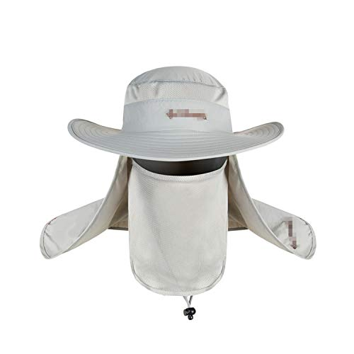 Waterproof Big Bucket Kappes with A Wide Brim New Summer Wind-Proof Sun Kappe SPF 30+ UV Protection Fishing Kappe Fisherman Cap White -