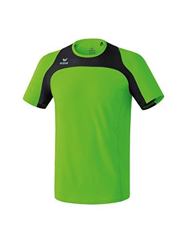 Erima Kinder Race Line Running T-Shirt, Green Gecko/Schwarz, 164 (T-shirt Line Über)