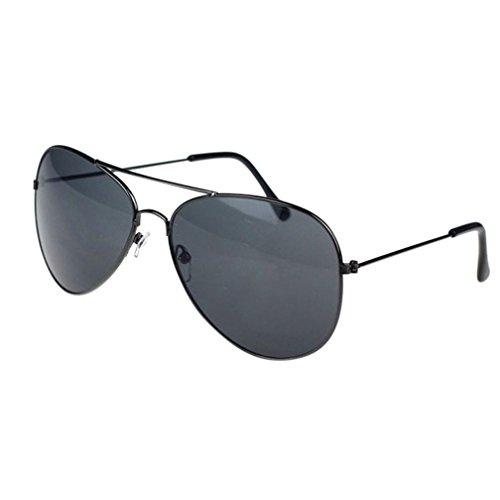 Ba Zha Hei  Sonnenbrille Klassische Pilotenbrille Unisex Polarisierte Sonnenbrille Fliegerbrille Pornobrille in vielen Farbkombinationen Metallrahmen Marke Klassische Sonnenbrille (H)