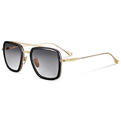ab59b64587 SHEEN KELLY Retro Gafas de sol Tonny Stark Marco de metal para hombres mujeres  Gafas de