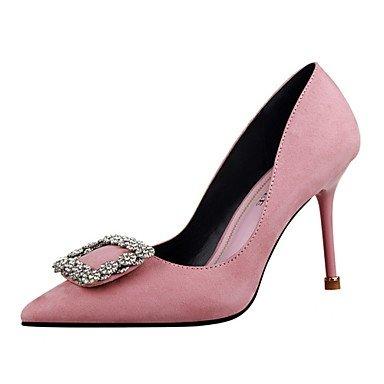 Nouveauté Talon Printemps Rouge Femmes Chaussures Amp; De Partie Soirée Été Fleece Pompe SHOESHAOGE Tenue Pour Rose Strass Pink Talons Pour De Base Chaussures SqpYqP