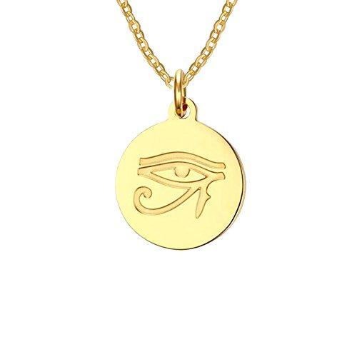 Fengteng Rund Gold Altes ägyptisches Auge des Horus -