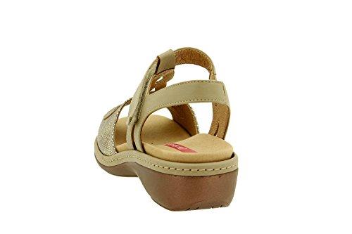 Scarpe donna comfort pelle Piesanto 8820 sandali soletta estraibile comfort larghezza speciale Visón