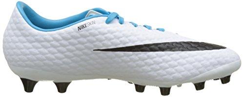 Nike Hypervenomx Phelon Ag-Pro, Scarpe da Calcio Uomo Multicolore (White/black-photo Blue-chlorine Blue)