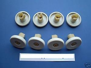 john-lewis-dishwasher-basket-wheels-lower-x-8-new
