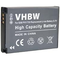 batterie LI-ION pour TOSHIBA Camileo S30, Camileo S30 HD, X150, PA3893U-1CAM remplace PX1733, PC1733E-1BRS