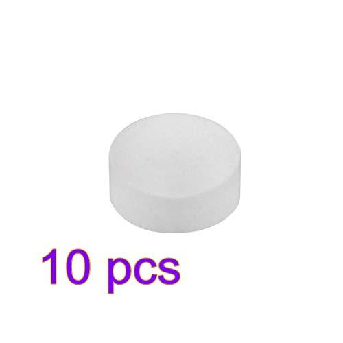 Tabletas descalcificadoras - Solución descalcificadora para todas las marcas de máquinas de café y espresso 10 piezas blanco