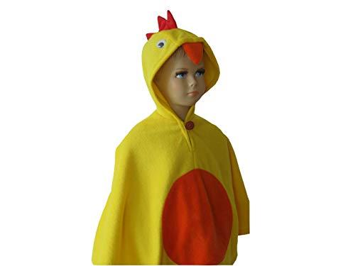 fasching karneval halloween kostüm cape für kleinkinder küken