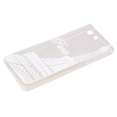 Trasparente TPU Custodia Case per iphone 5C - ISAKEN ultra sottile Silicone Custodia Morbido Flessibile case cover Protettivo Skin UltraSlim TPU Caso per Apple iphone 5C (tarassaco) Torre Eiffel Paris