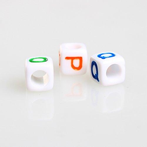 23442b36a28f Abalorios de plástico de SUMAJU con letras individuales de la A a.