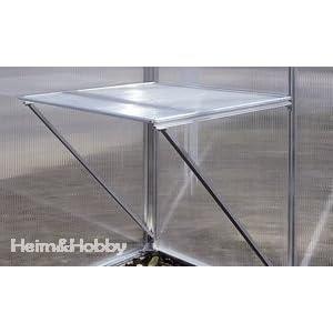 Aluminium Arbeitstisch / Pflanztisch für Gartentec Gewächshaus Typ F2 bis F6