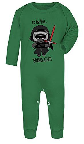 Darth Vader to Be Ähnlichen Großvater Star Wars Aufdruck Kostüm Footies 100% Cotton - Smaragd-grün, 3-6 Months