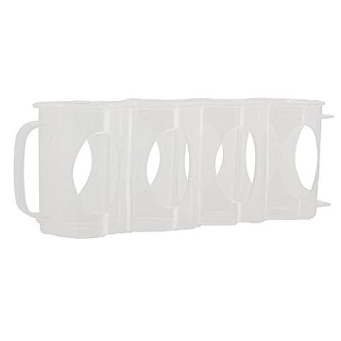 Merssavo Boîtes de rangement Plastique Transparente Accessoires pour réfrigérateurs avec