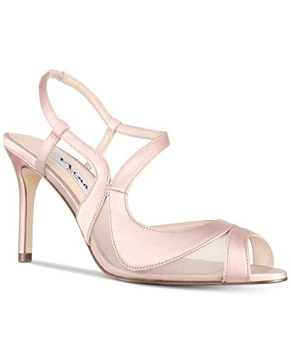 Nina Frauen Regina Peep Toe Knoechel Riemen D-Orsay Pumps Pink Groesse 7.5 US /38.5 EU Nina Ankle Strap Heels