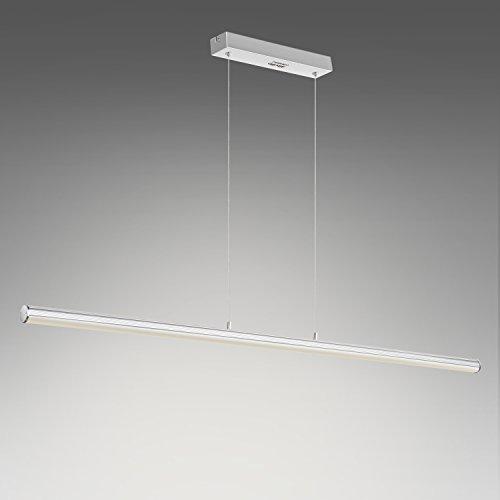 Albrillo 18W LED Pendelleuchte 1440 LM Höhenverstellbare LED Hängelampe für Esszimmer, Wohnzimmer, 3000K warmweiß, 118 x 120cm, Metall, 3 Jahre Garantie