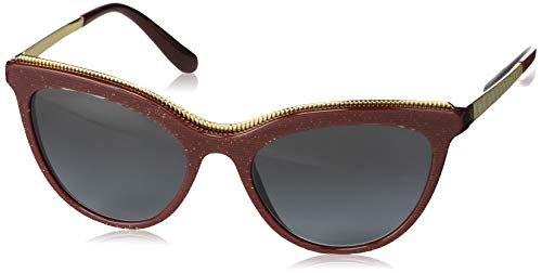 Ray-Ban Damen 0DG4335 Sonnenbrille, Mehrfarbig (Glitter Gold Striped Bord), 54.0